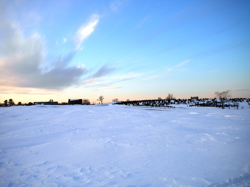 A fresh blanket of snow