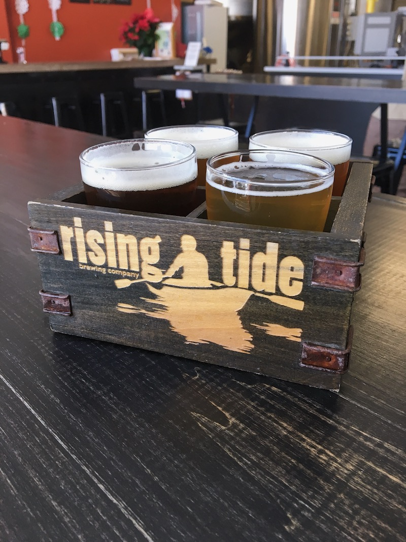Weekend visits to  Rising Tide Brewing Company