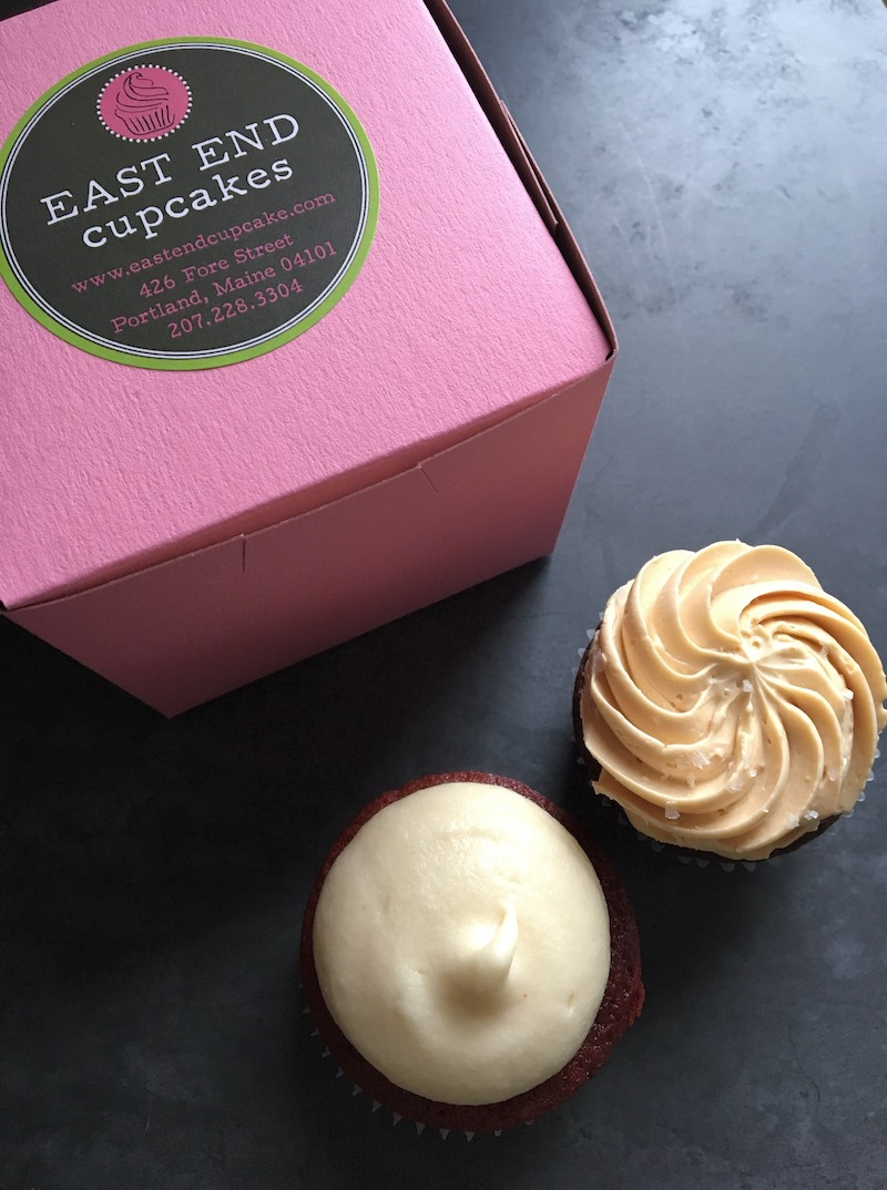 My favorite cupcakes from  East End Cupcakes - red velvet and caramel sea salt
