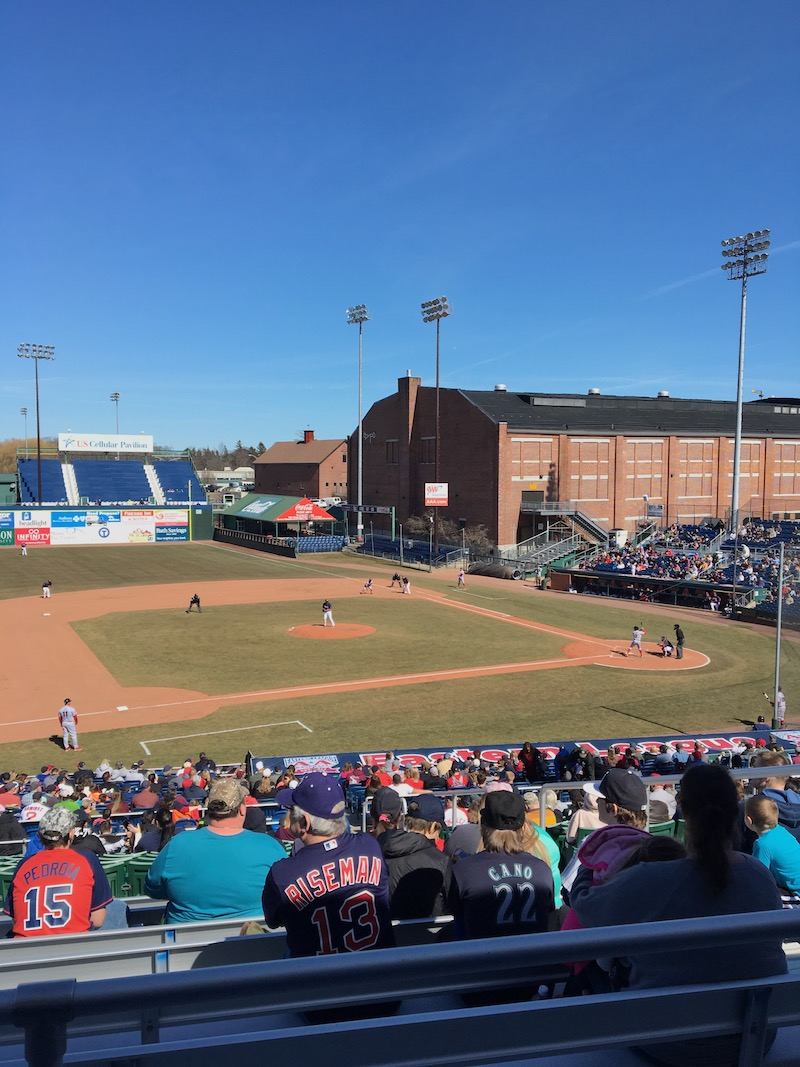 A perfect spring day to watch a  Sea Dogs  game