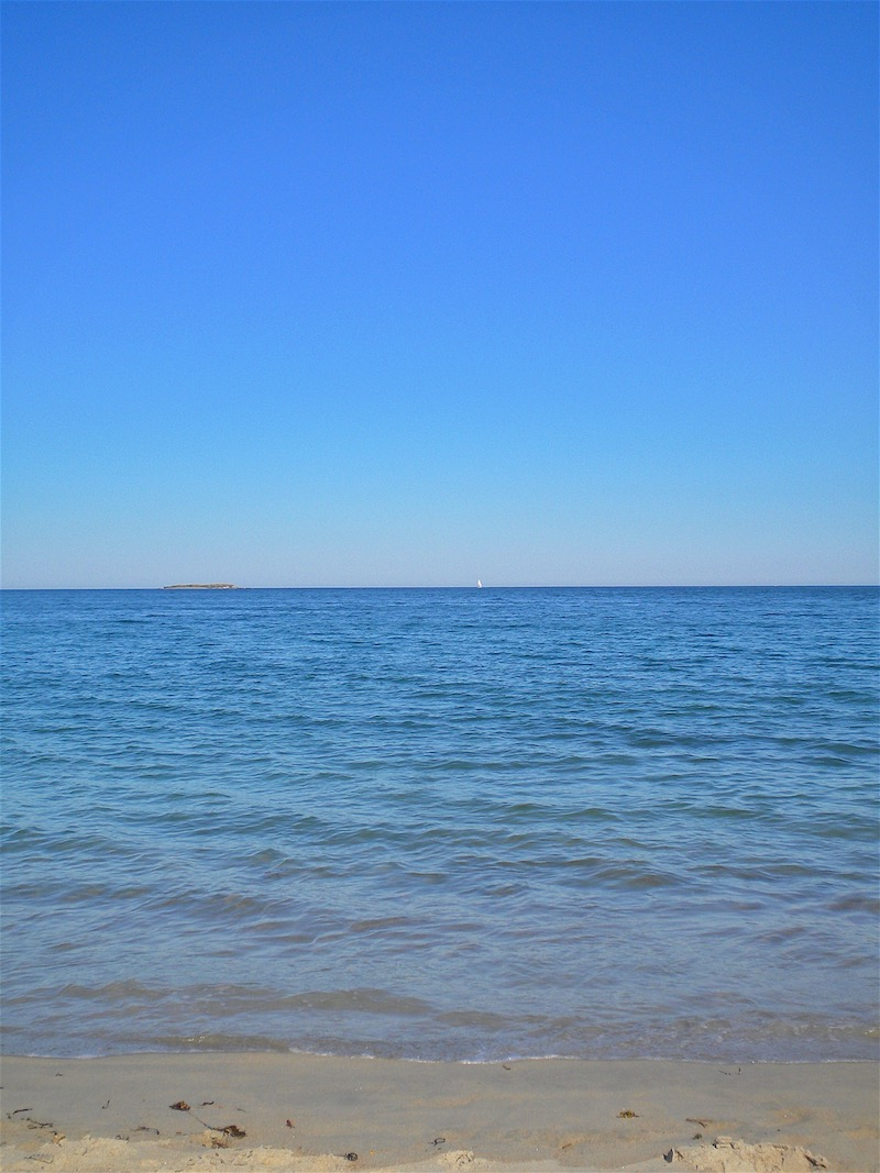 Blue skies, blue water, and sunshine