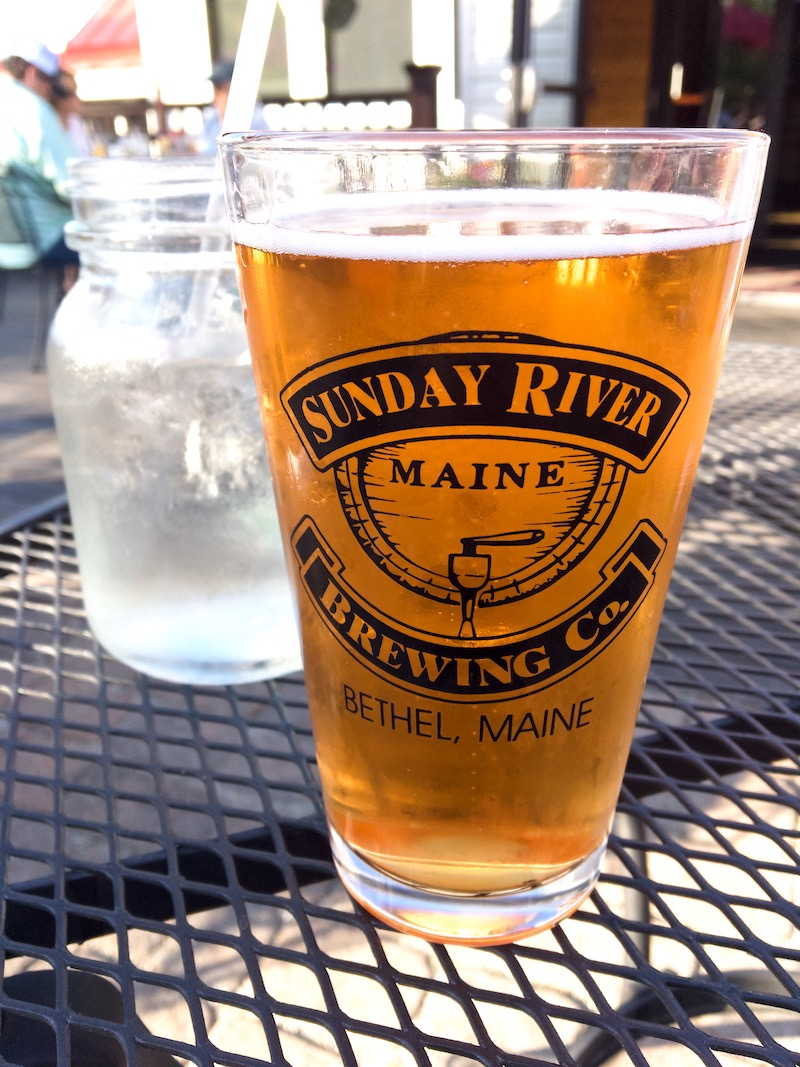 Delicious brews and food at  Sunday River Brewing Co.  that left our hearts and bellies happy