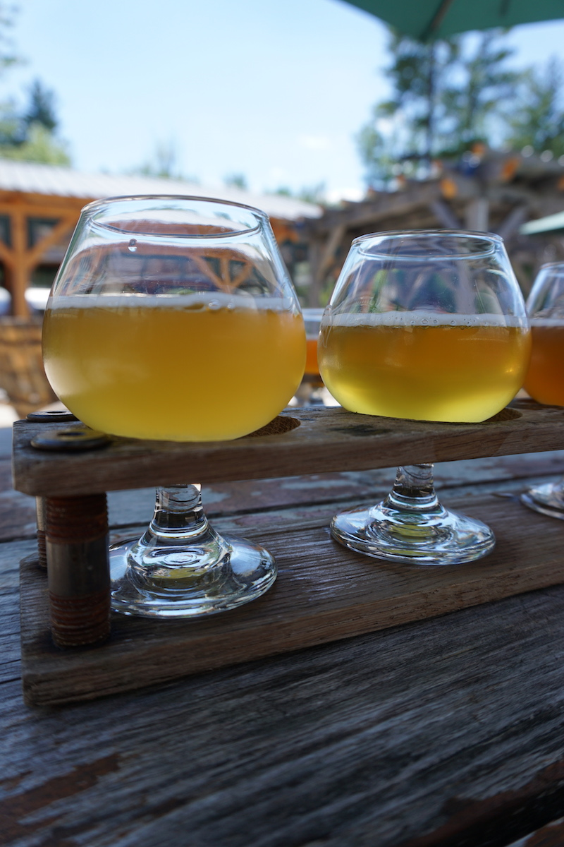 Free  Allagash  flights- there's not much better than free beer on a warm summer day