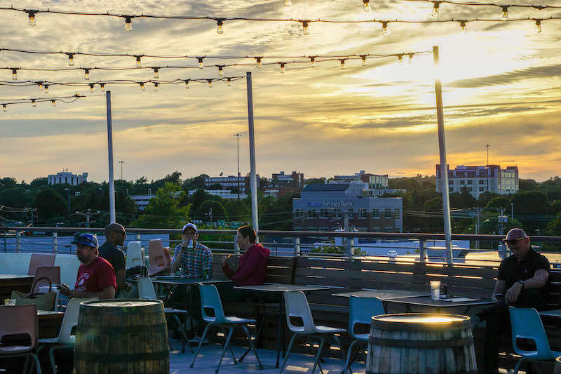 Summer nights spent at the rooftop bar at  Bayside Bowl - the tacos here are SOO delicious!