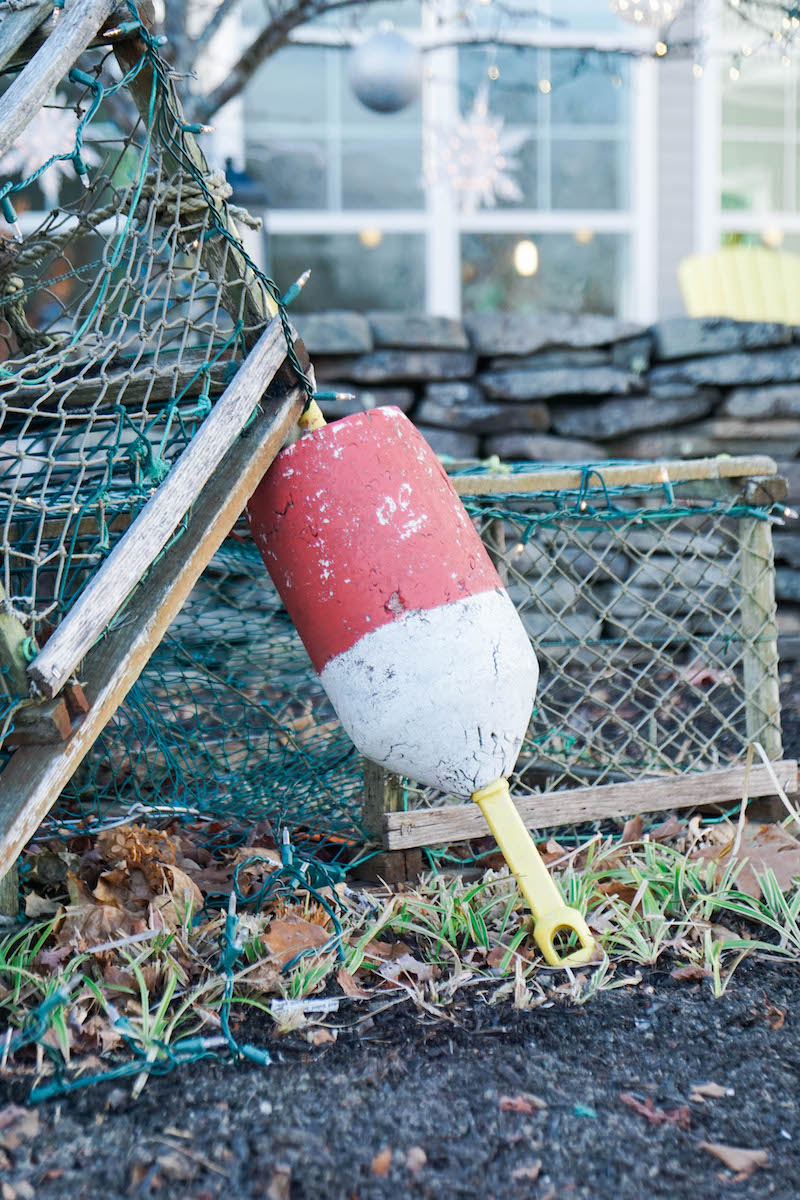 Christmas in Maine- of course lobster traps and buoys have to be involved!