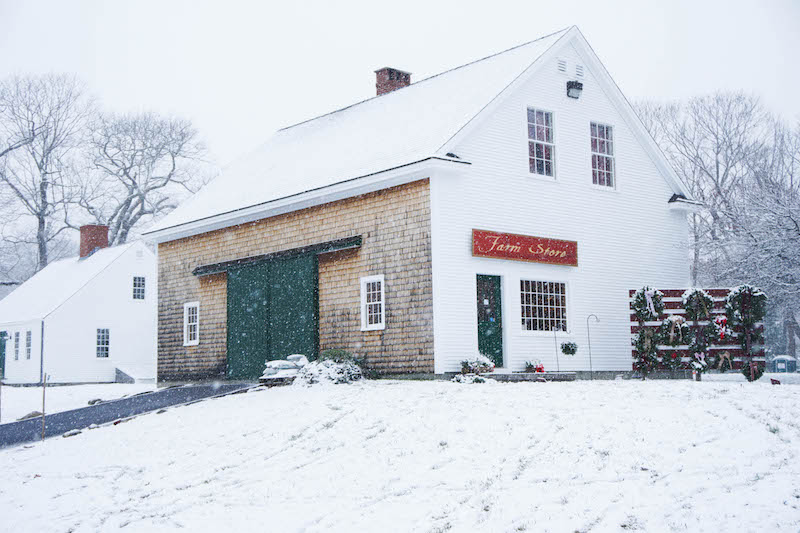 Snowy days spent at  The Old Farm Christmas Place of Maine - Isn't it just so beautiful?!