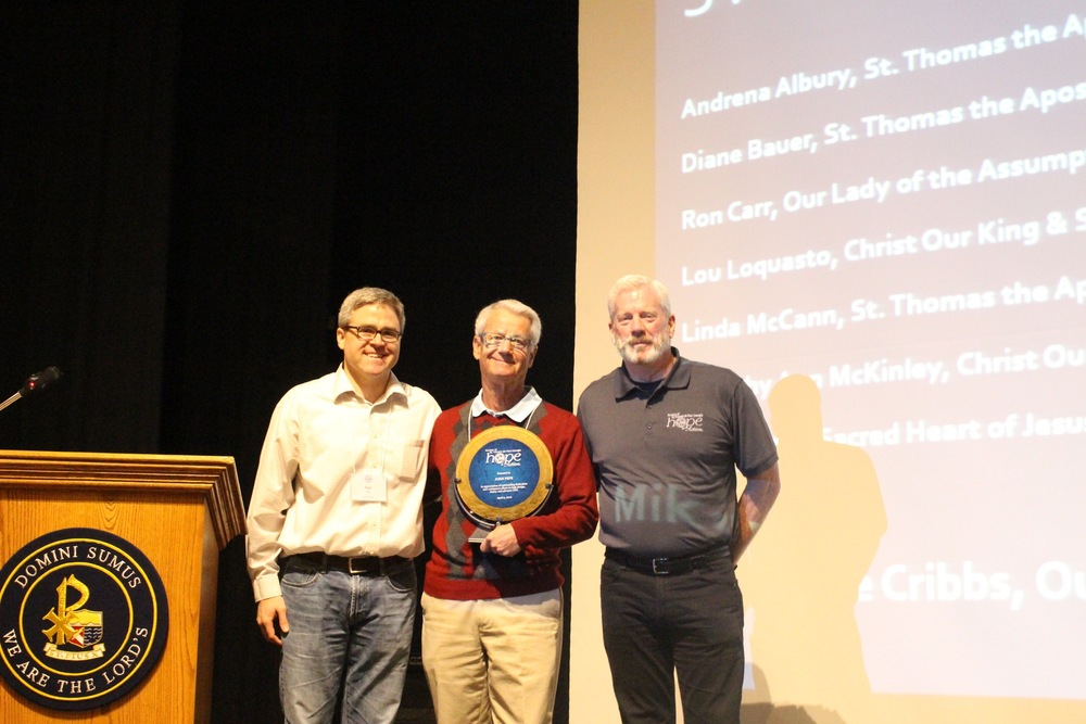 A special award was given to John Pepe for his dedicated work with CMS