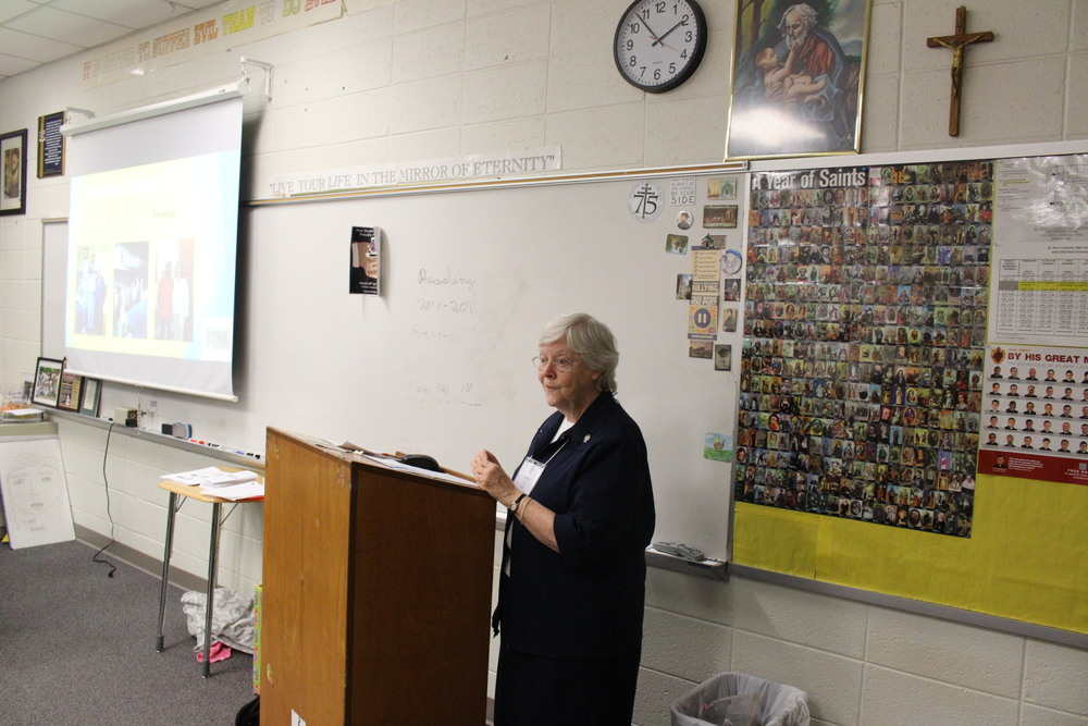 Sr. Katie joines us from Daybreak in Macon for a workshop on Social Justice