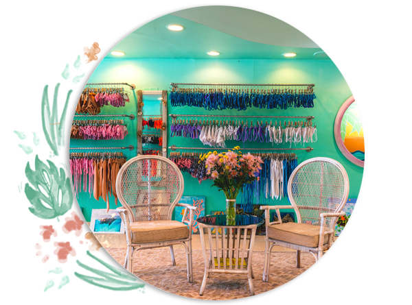 bathing suit bliss - Not sure which one of our bikinis would fit you best? Come into our cozy boutique where we'll help you find your perfect swimsuit!
