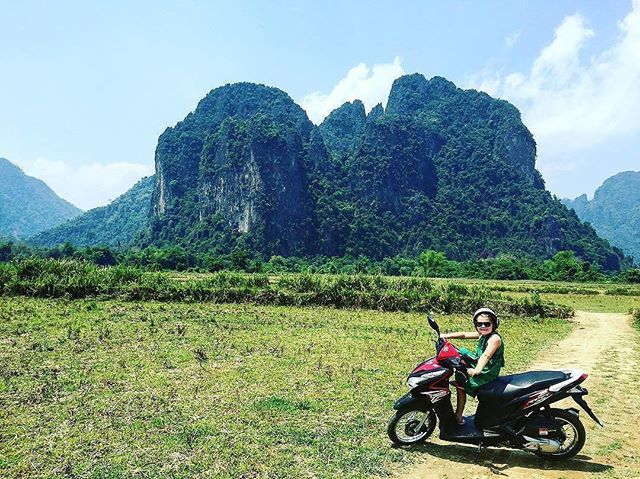 """If happiness is the goal – and it should be, then adventures should be top priority."" – Richard Branson // @smithsholidayroad's little one had her priorities straight on a father-daughter day trip through the Karst mountains and villages just outside Vang Vieng in Laos.  What has been your favorite adventure? ----  Tag your best #familytravel pictures with #familyjaunts for a chance to be featured.  #getoutside #goadventure #liveauthentic #travelingfamily #ontheroad #exploreeverything #instatravel #littleexplorers #wanderlusting #travelgram #welltravelledkids #littleandbrave #kidstravel #familyadventure #showthemtheworld  #travelwithkids  #neverstopexploring  #naturejaunt #laos #fatherdaughter #beautiful #southeastasia #southeastasiawithkids"