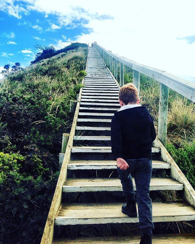 """Take small steps every day and one day you will get there."" ~ Unknown // @lifeisabeach_cherry's little one was ready to take on the steps at the Truganini Lookout on Bruny Island in Tasmania. ----  Tag your best #familytravel pictures with #familyjaunts for a chance to be featured.  #getoutside #goadventure #liveauthentic #travelingfamily #ontheroad #exploreeverything #instatravel #littleexplorers #wanderlusting #travelgram #welltravelledkids #littleandbrave #kidstravel #familyadventure #showthemtheworld  #travelwithkids  #neverstopexploring"