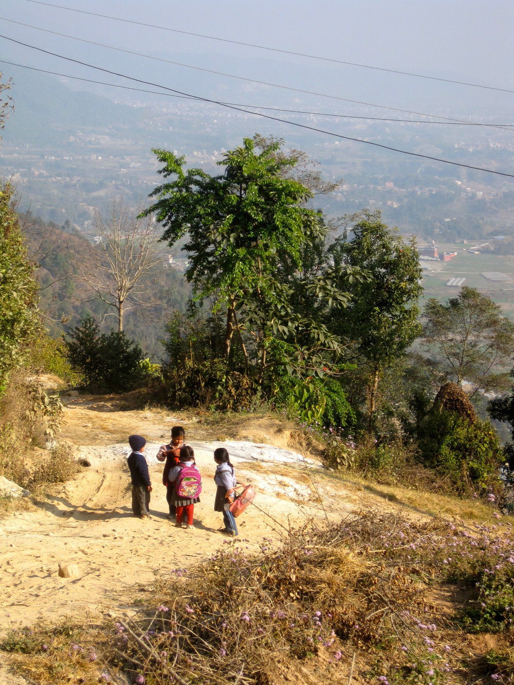 Pop Up Dinner Party in Nepal: Children on their Way to School
