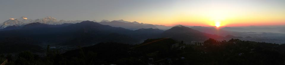 Pop Up Dinner Party in Nepal: Sunrise over the Himalayas