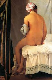 Jean-Auguste-Dominque  Ingress (1780-1867) La Baigneuse de Valpincon (The Bather of Valpincon), 1808, Oil on Canvas.