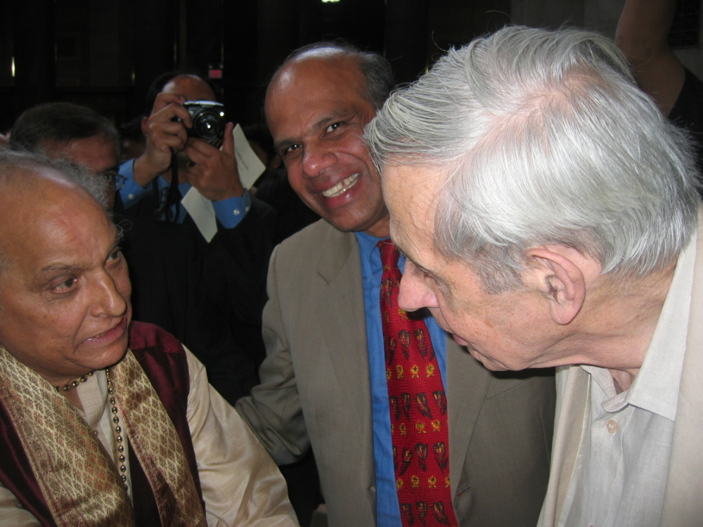 Dr. Gurumurthy Kalyanaram with Pandit Jasraj and Nobel Laureate John Nash.JPG