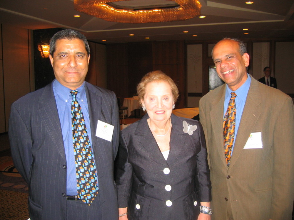 Dr. Gurumurthy Kalyanaram with Secretary Madeline Albright.JPG