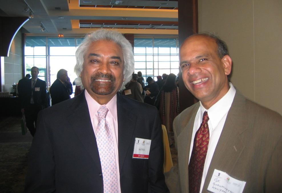 Dr. Gurumurthy Kalyanaram with Sam Pitroda.JPG