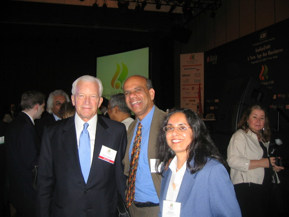 Dr. Gurumurthy Kalyanaram with Ambassador Robert Blackwill.JPG