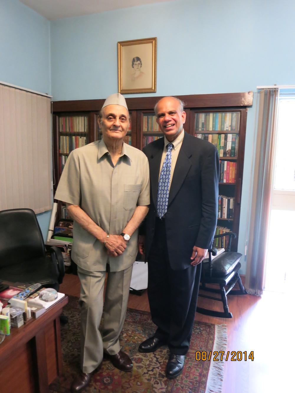 Dr. Gurumurthy Kalyanaram with Ambassador Dr. Karan Singh.JPG