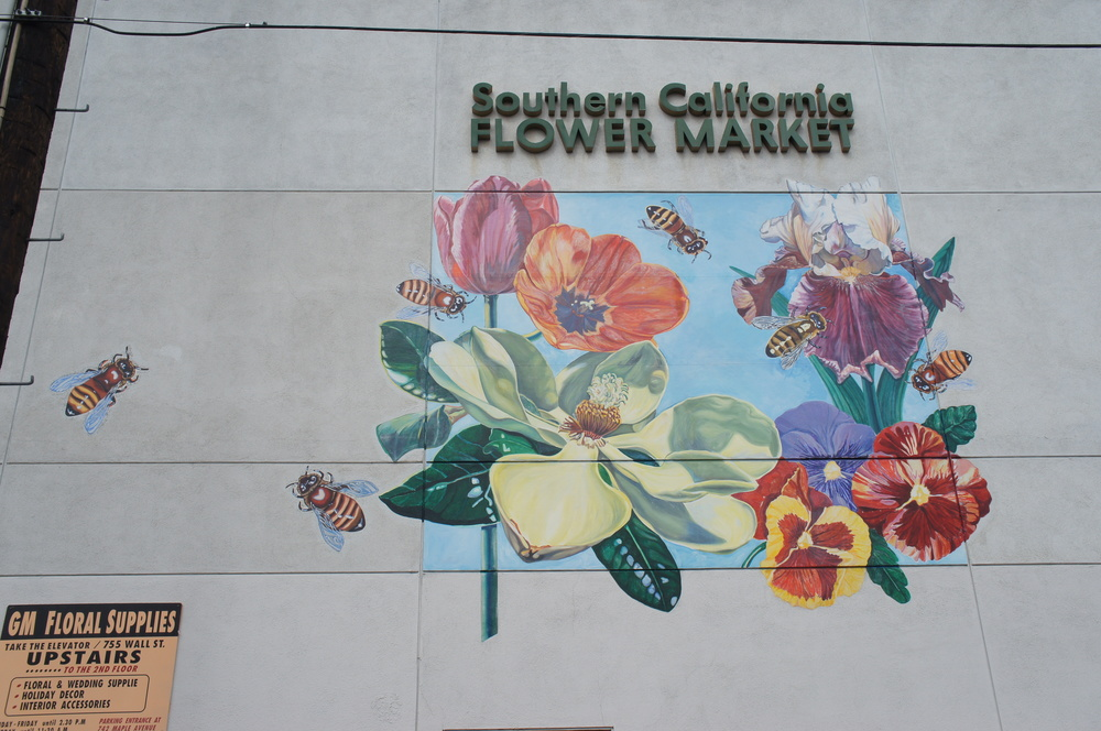 Los Angeles flower market wall mural