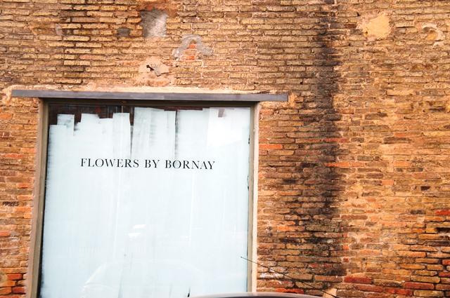 Exterior of Bornay, Barcelona florist studio
