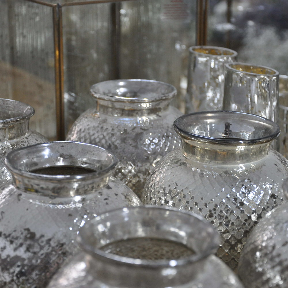 mercury vases for hire and sale Glasgow, Scotland
