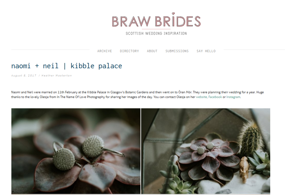 Little Botanica Glasgow Wedding Florist Kibble Palace and Oran Mor on Braw Brides wedding blog
