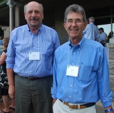 John Dorrer, left, with IHT Board President Ted Koffman at College of the Atlantic, May 2016