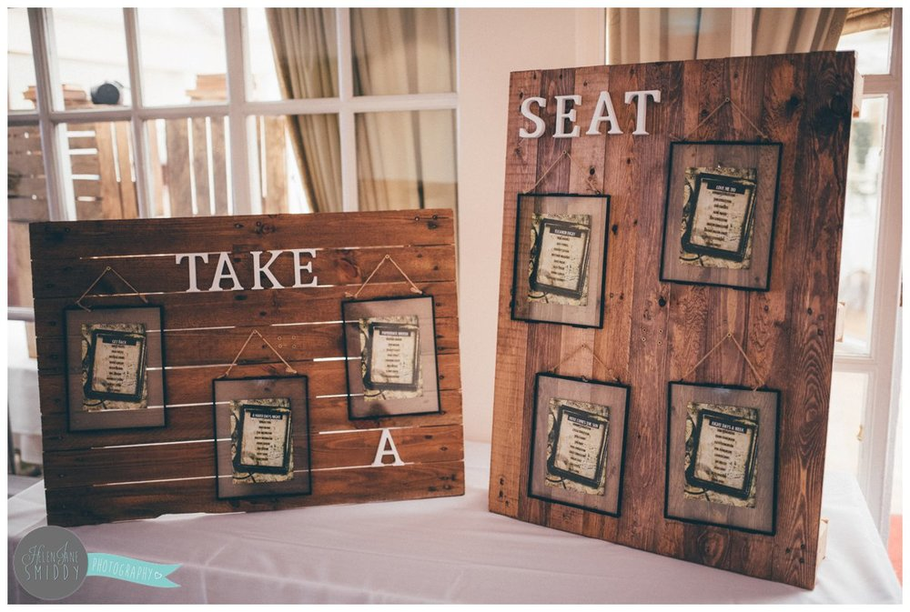 The beautiful rustic, DIY table plan.