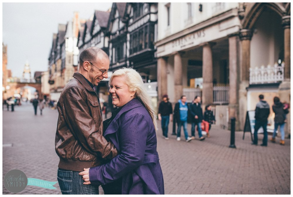 Chester City Centre makes the perfect backdrop for a contemporary and fun pre-wedding shoot.
