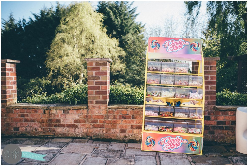 Pick n Mix selectiong of sweets at a Cheshire garden party.