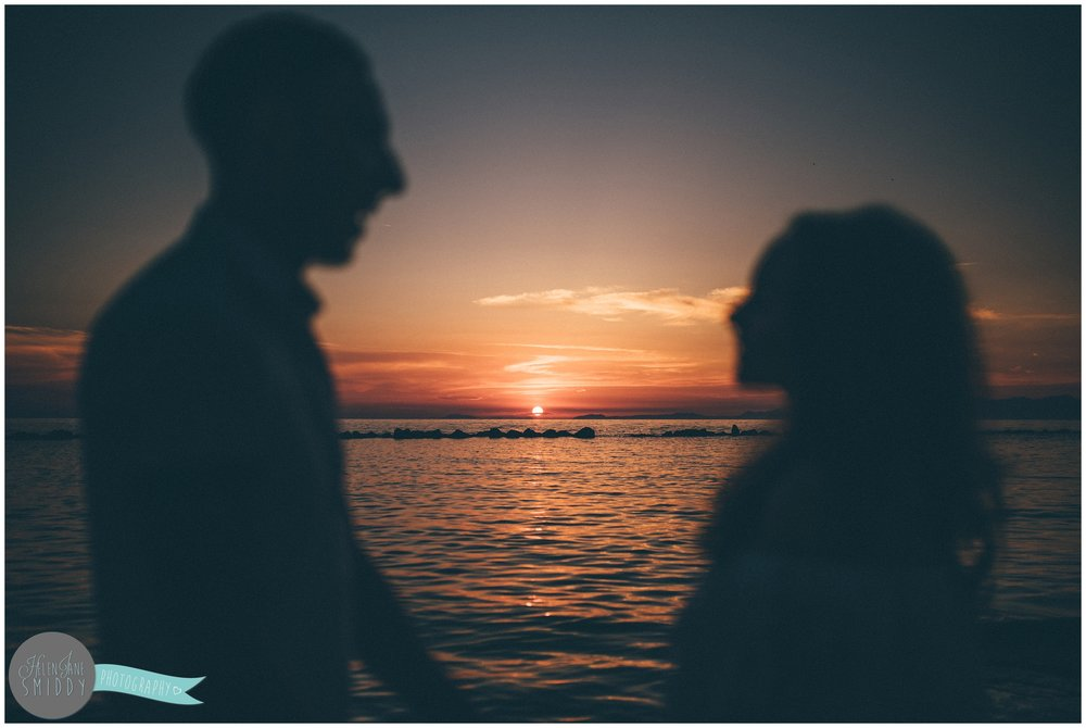 The sun setting on Sabrina and Dom's Italian engagement shoot.