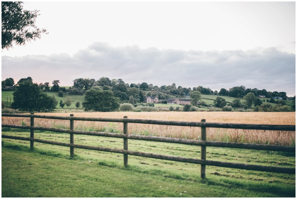 The beautiful grounds at The Ashes wedding barn in Staffordshire.