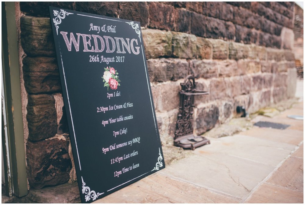 Rustic DIY details at The Ashes wedding barn in Staffordshire.