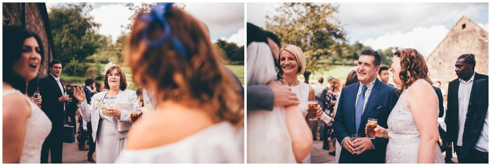 Summertime wedding reception  at The Ashes wedding barn in Staffordshire.