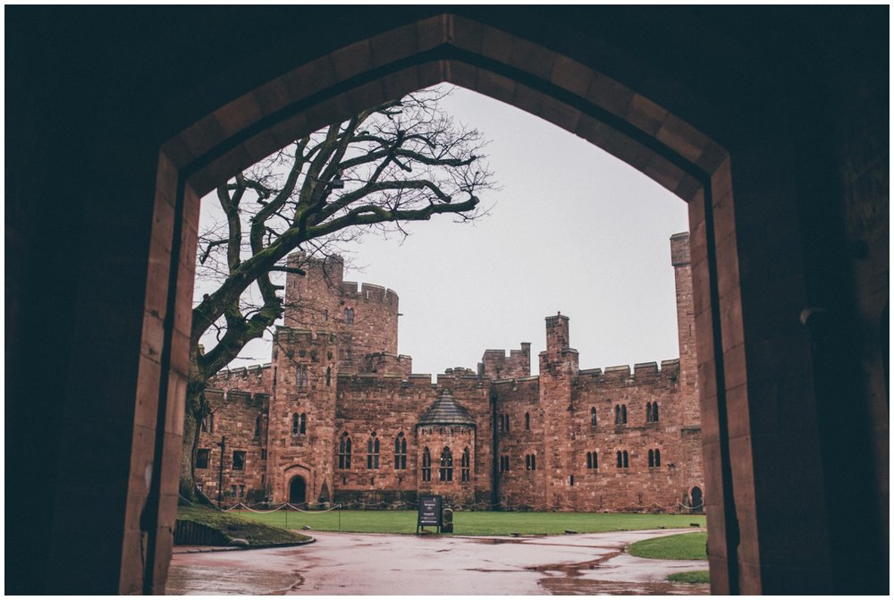 The stunning entrance to Peckforton Castle in Cheshire.
