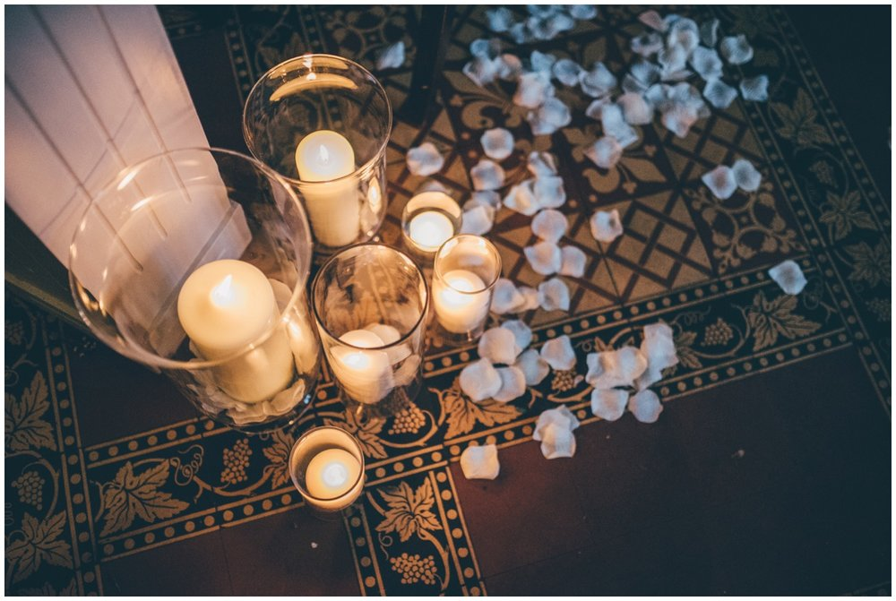 Ceremony details at Peckforton Castle.