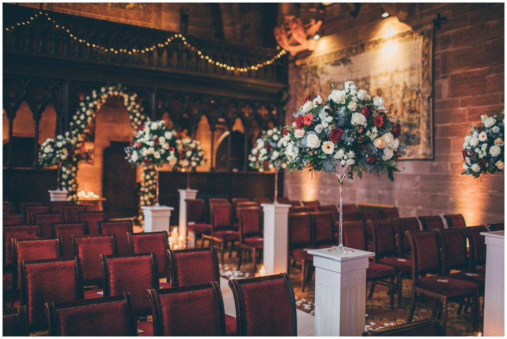 Beautiful ceremony room at Peckforton Castle.
