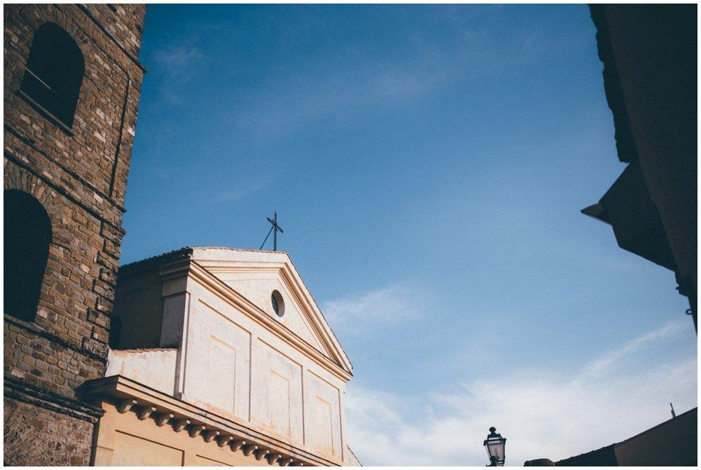Stunning hiltop church in Santa Maria Di Castellabate.