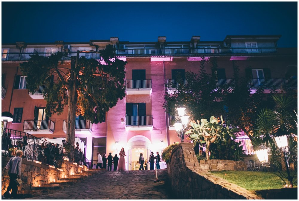 Beautiful Hotel Garden Riviera wedding set-up.