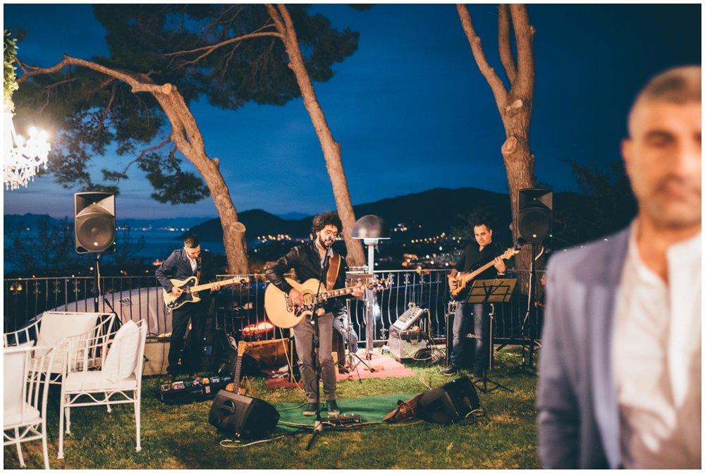 Beautiful Hotel Garden Riviera wedding set-up at an Italian Destination wedding.