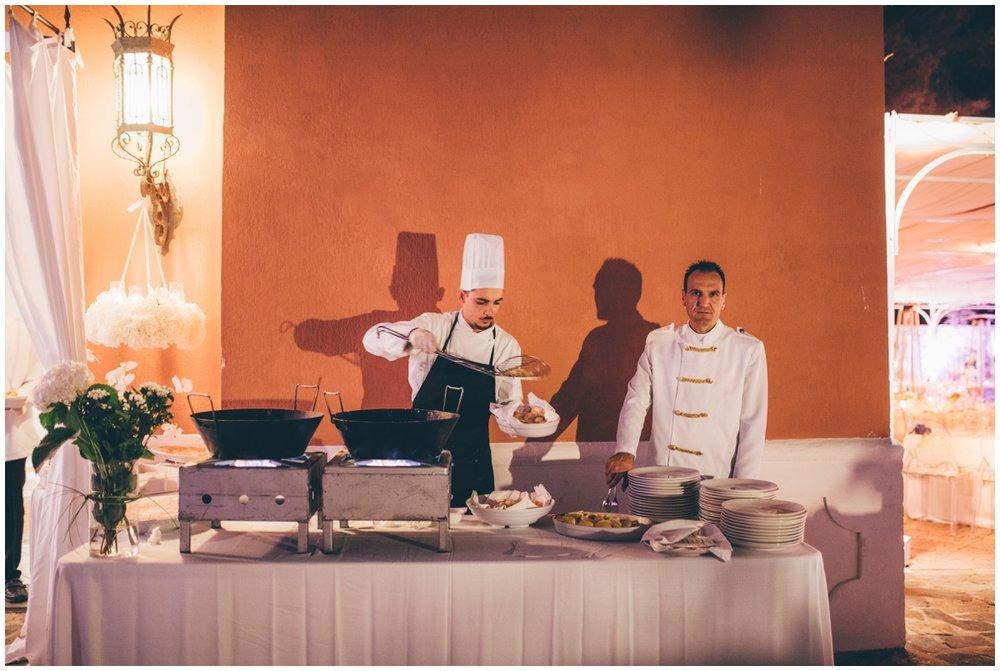 Italian foods at beautiful destination wedding.