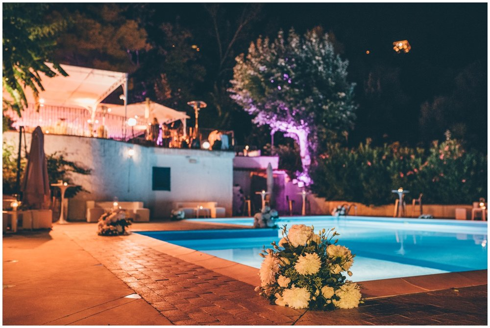 Gorgeous outdoor party at an Italian destination wedding.