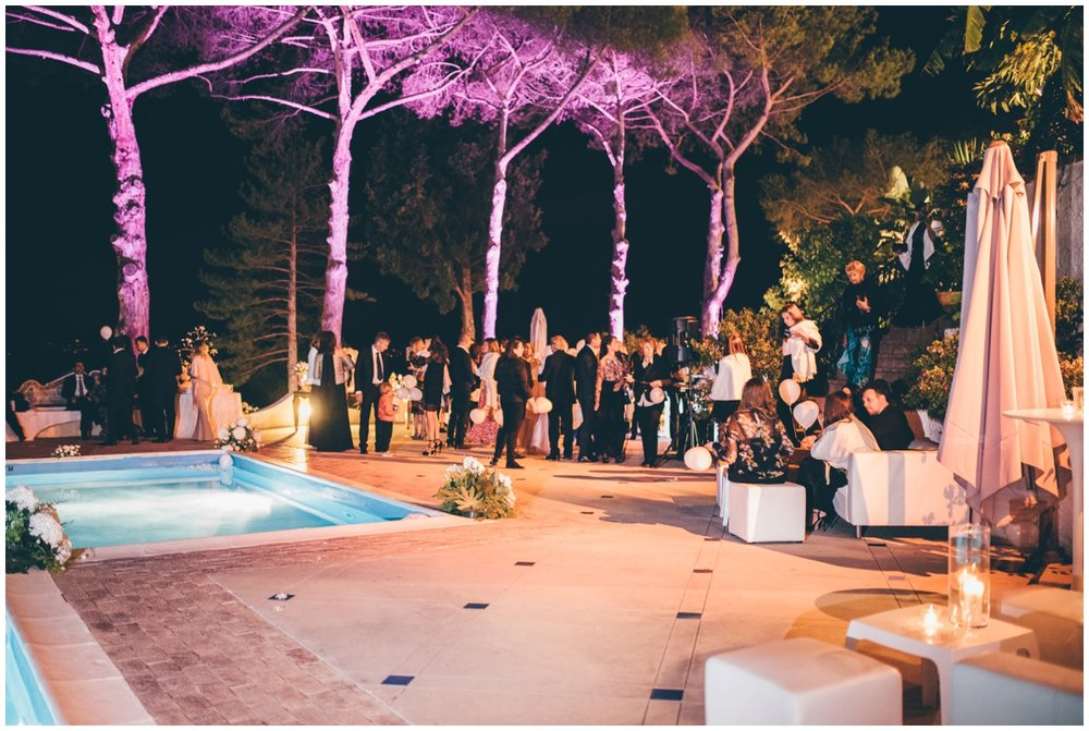 Gorgeous outdoor party at an Italian destination wedding..