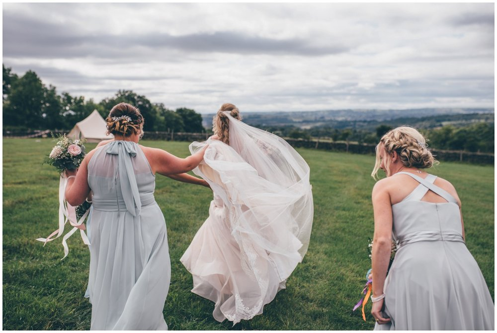 Cheshire wedding photographer captures special moment at tipi wedding in Staffordshire.
