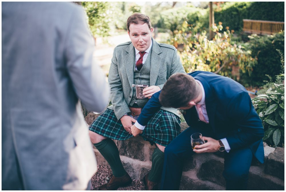 Wedding guest tried to look up another guests kilt at Tilstone House wedding in Cheshire!