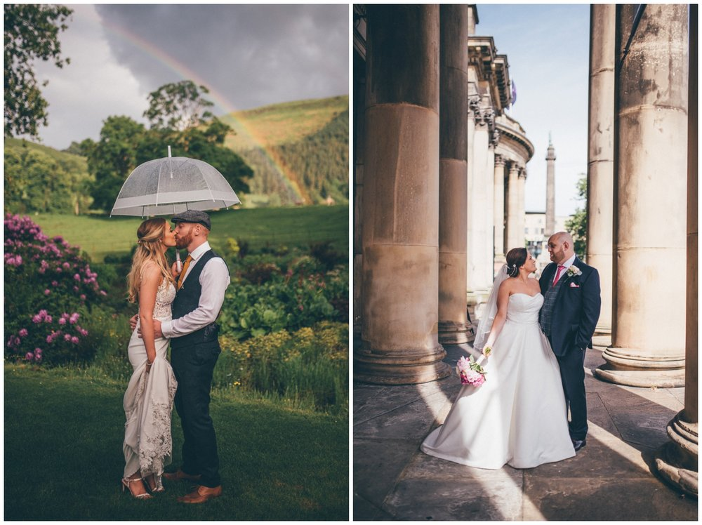Stunning brides and grooms at Tyn Dwr Hall and in Liverpool City centre wedding.