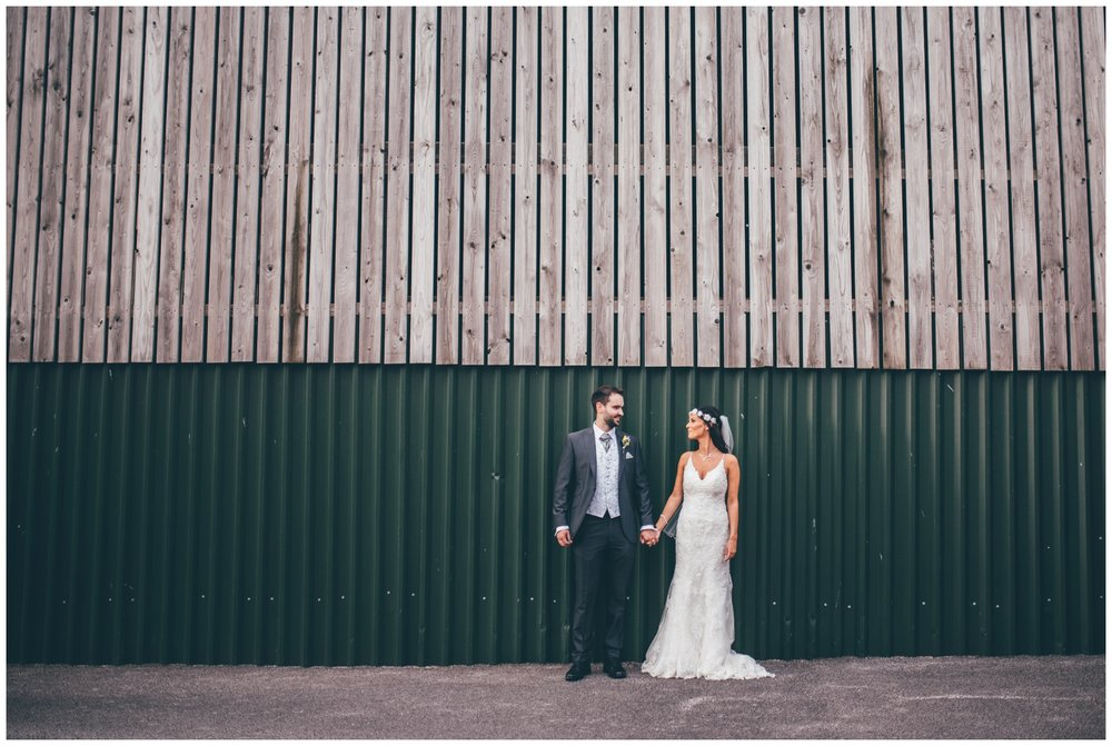 Bride and Groom at Sandhole Oak Manor in Cheshire.