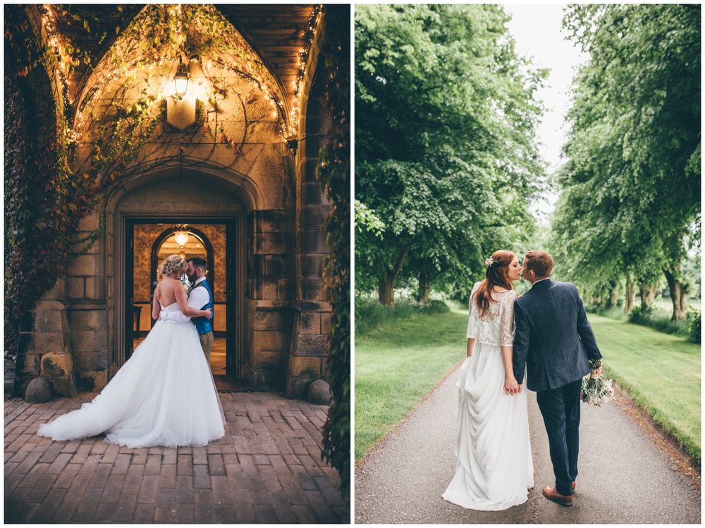 Swinton Park Estate Bride and Groom and Trafford Hall bride and groom.