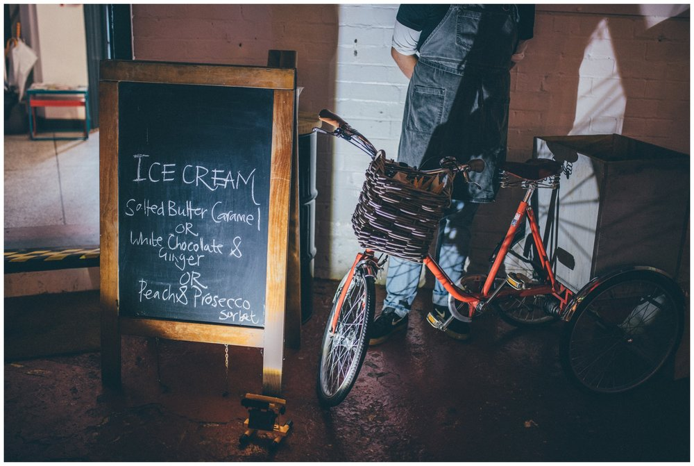 Ice cream bicycle at the Hide in Sheffield.